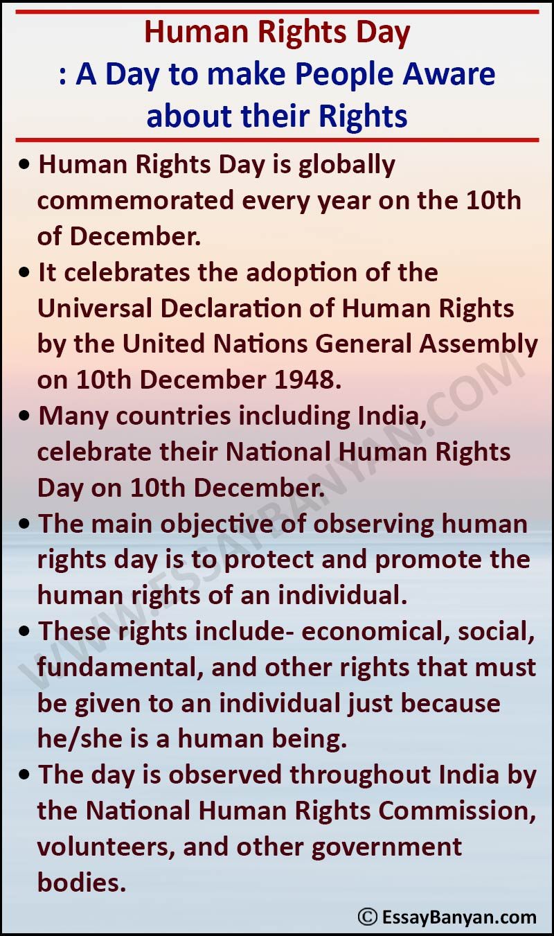 Essay on Human Rights Day