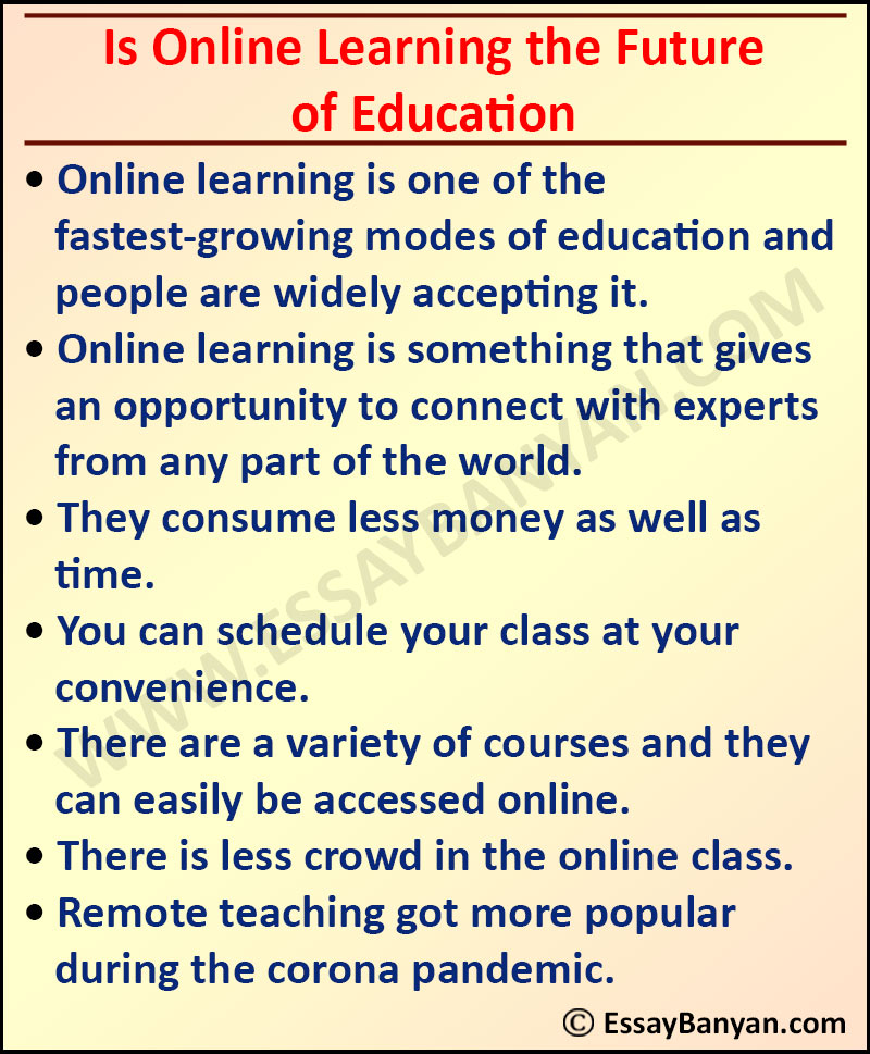 Essay on Is Online Learning the Future of Education