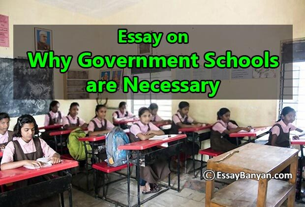 Essay on Why Government Schools are Necessary
